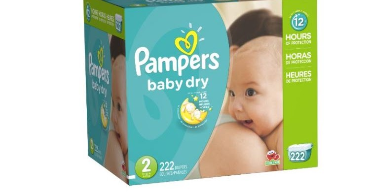 222ct Size 2 Pampers Baby Dry Diapers Economy Pack Plus