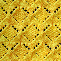 Windmill Knitting Stitch. A combination of cable and lace. Free Knitting Stitches for Knitters.