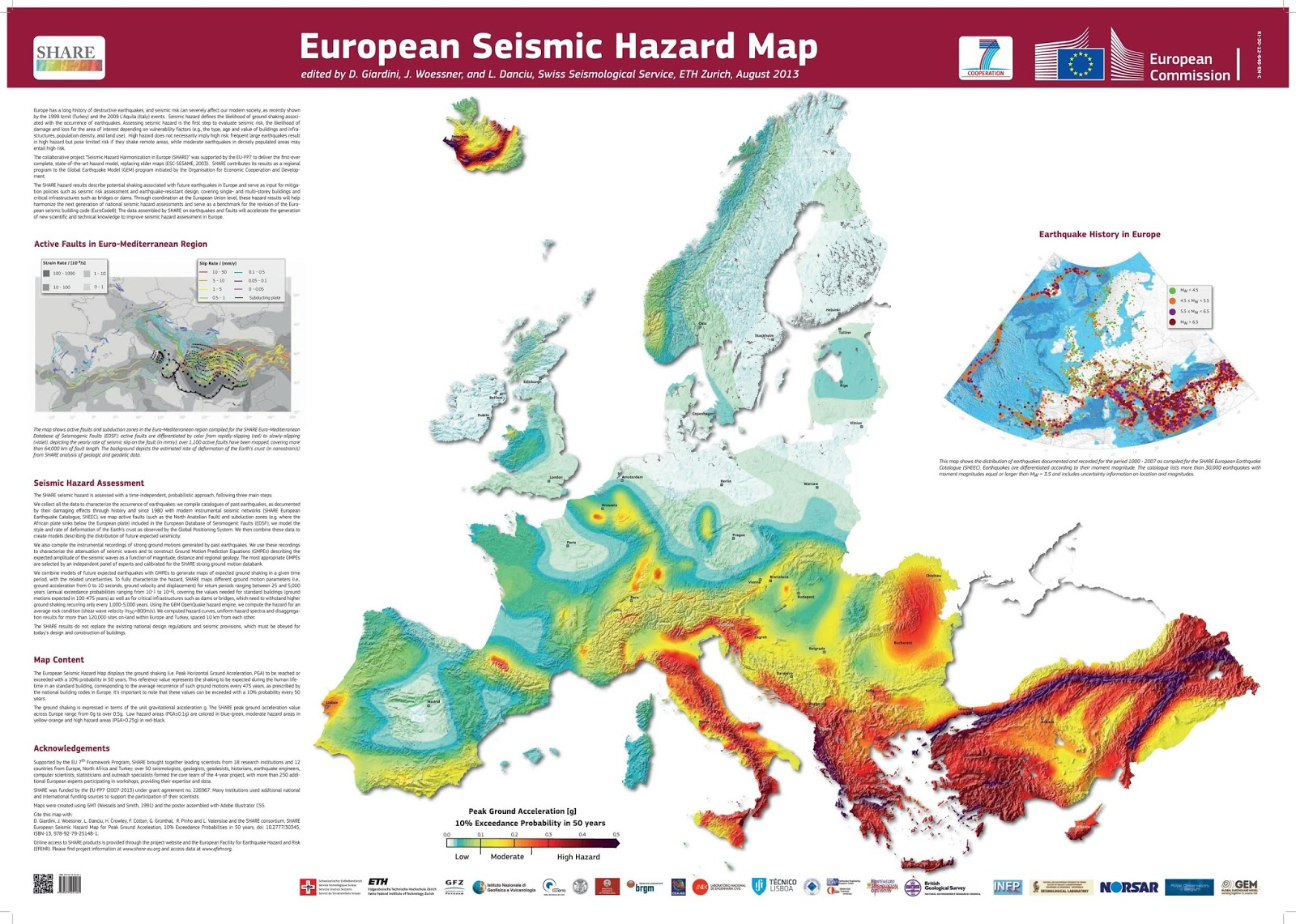 European seismic hazard map