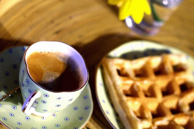 Tea and waffles