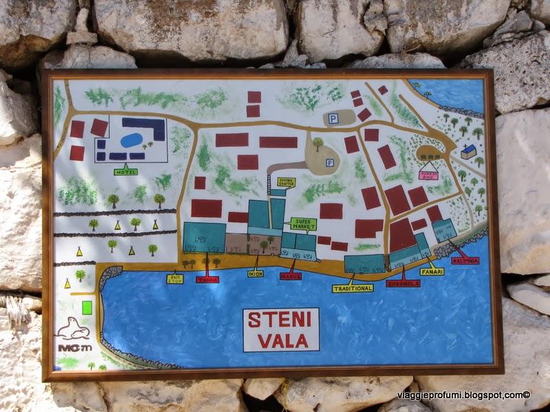 La colorata mappa di Steni Vala, ad Alonissos