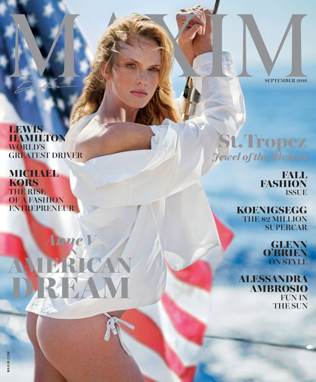 Anne Vyalitsyna gets sexy for Maxim September 2016