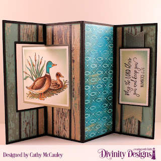 Divinity Designs Stamp Set: Best Dad Ever, Paper Collection: Weathered Wood, Embossing Folder: Fish, Custom Dies: Lever Card with Layers, Pierced Rectangles, Large Banners, Treat Tags
