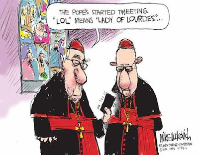 Funny Pope LOL cartoon joke picture