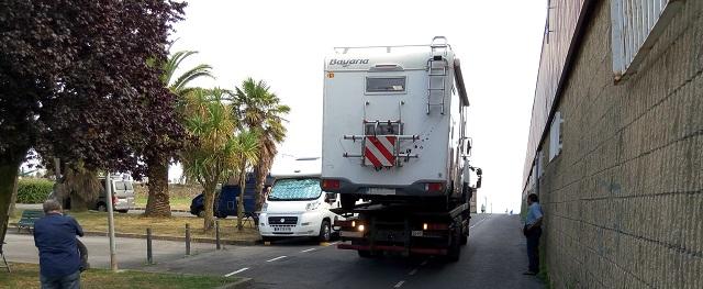 Entrada a l'àrea d'autocaravanes de Bermeo