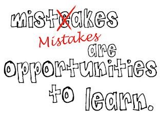 Mistakes show you're human
