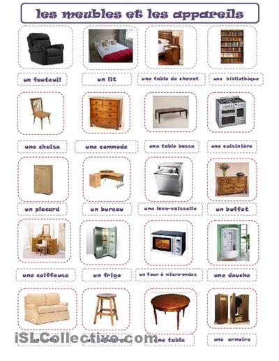 franc s avanzado benasque graus les parties de la maison et les meubles las partes de la. Black Bedroom Furniture Sets. Home Design Ideas