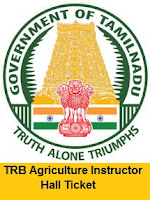 TRB Agriculture Instructor Hall Ticket