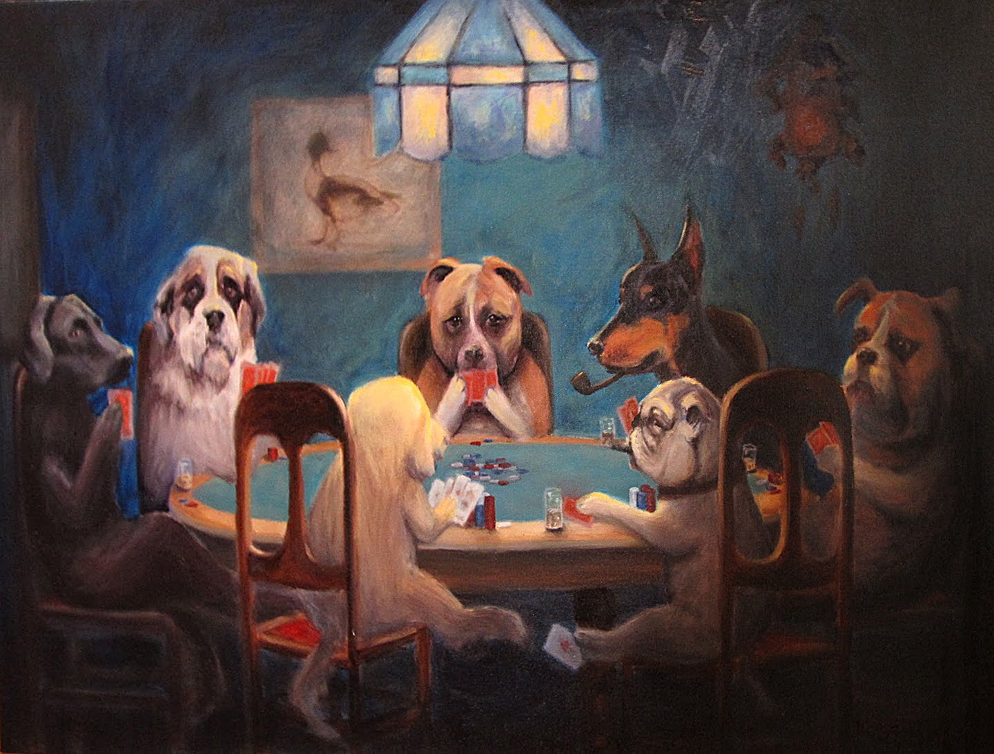 royalforest: Dogs Playing Poker