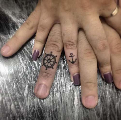couple anchor tattoo tumblr sevgili çapa dövme modelleri