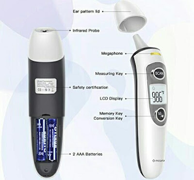 Mcaron Body Thermometer - Digital Temperature Monitor with Fever Indicator