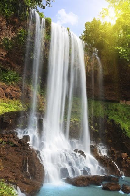 Vesiputous tapetti vesi luonto metsä maisematapetti