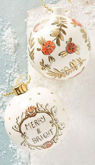 Holiday Ornaments, Garland, and Decor