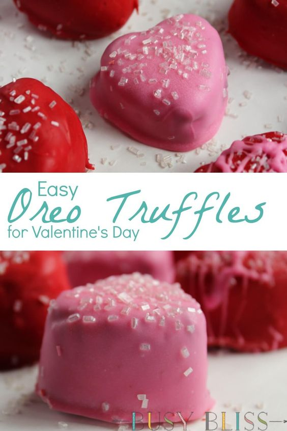 Easy No Bake Oreo Cookie Truffles for Valentine's Day
