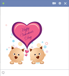 Sweet Valentine Puppies Sticker