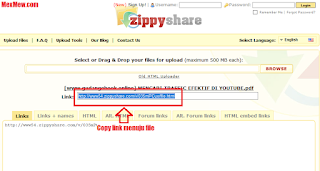 copy link,link zippy share, upload file,unggah file ke zippyshare