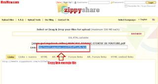 copy link,link zippy share, upload file,unggah file ke zippyshare