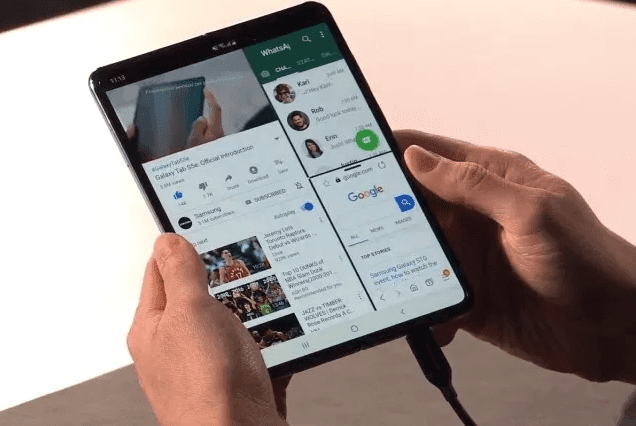 Samsung Galaxy Fold smartphone with Dual Displays, Dual batteries and 6 cameras