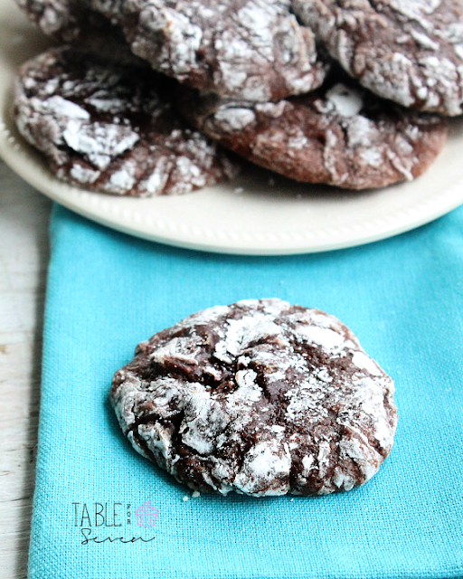 Brownie Crinkle Cookies