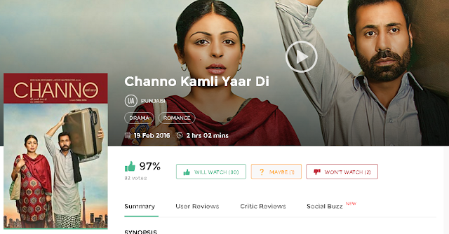 Channo Kamli Yaar Di 2016 Full Punjabi Movie 700mb HD 300mb