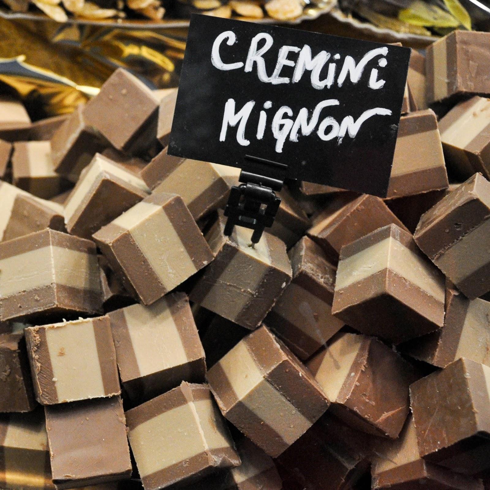 Cubes of cremino, Chocolate Festival, Piazza dei Signori, Vicenza, Veneto, Italy
