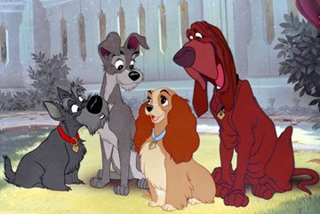Lady, Tramp, Trusty, Jock Lady and the Tramp 1955 animatedfilmreviews.filminspector.com