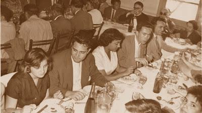 Comida en homenaje a los jugadores, Castellar de N'Hug, 25 de julio de 1957