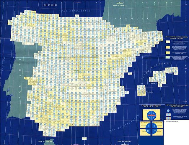 Index cartes 50 000 Espagne