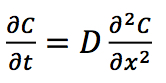 The diffusion equation.