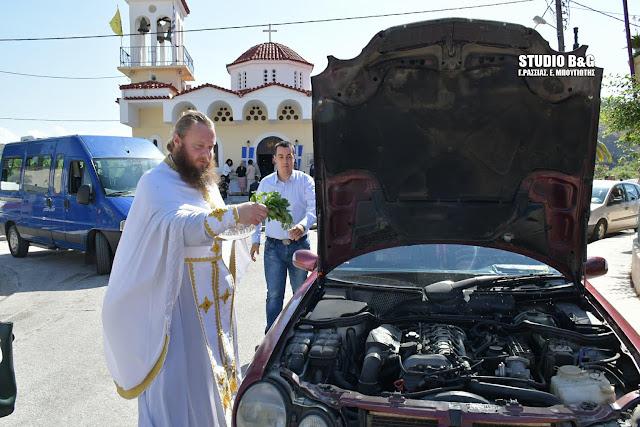 Με Αγιασμό οχημάτων η Εορτή του Αγίου Χριστοφόρου στις Εργατικές Κατοικίες Ναυπλίου