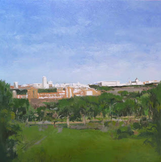 Vista de Madrid, oleo sobre tabla
