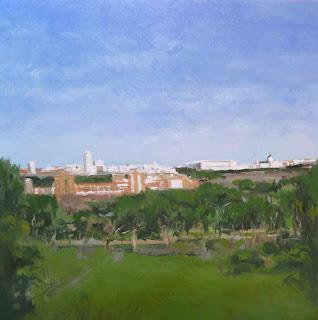 Vista de Madrid, oleo sobre tabla