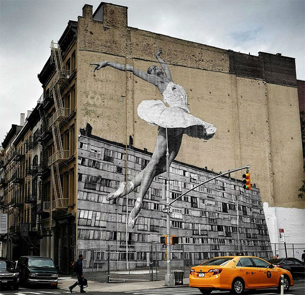 Les Bosquets en la medianera de Nueva York