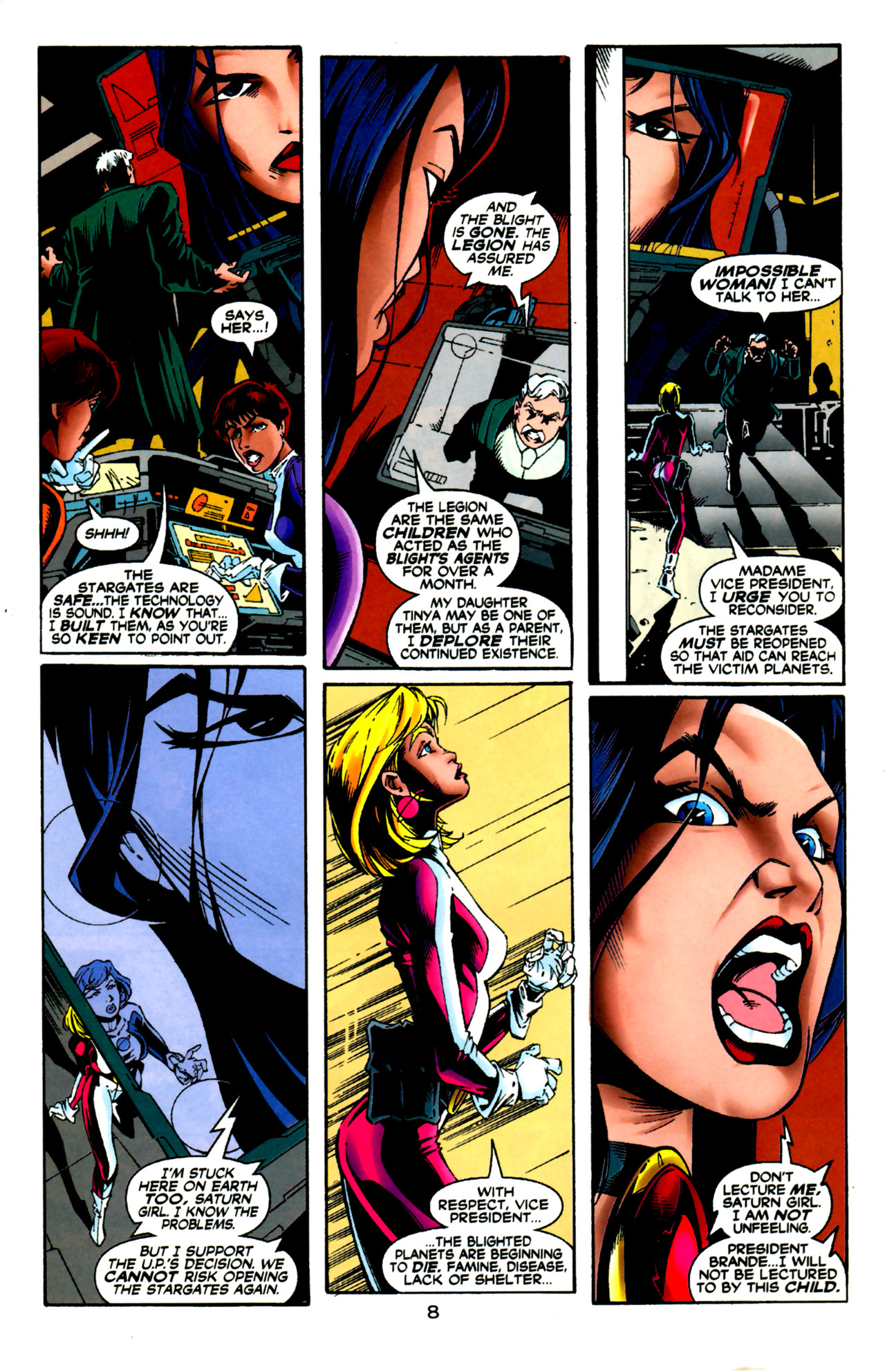 Legion of Super-Heroes (1989) 124 Page 8