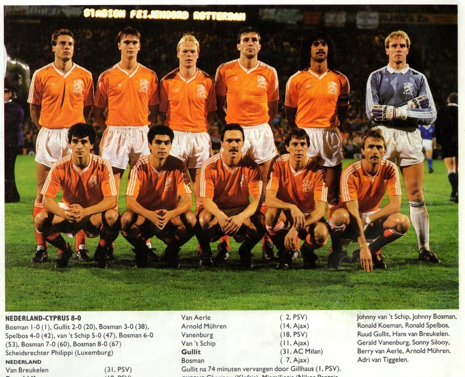 Soccer Nostalgia Qualification Phase Part Four Holland 1988 Uefa European Championship Qualifiers