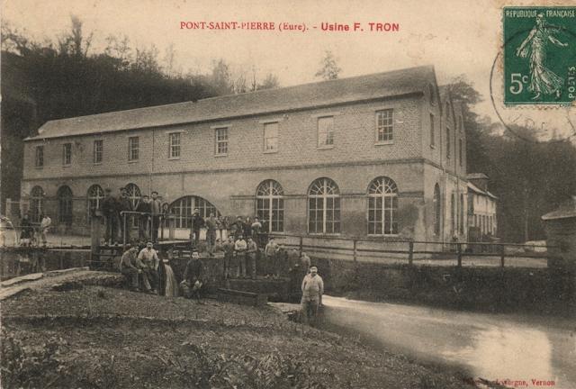 Tron et Berthet à Pont-Saint-Pierre - La selle Idéale. L'usine Tron en 1911
