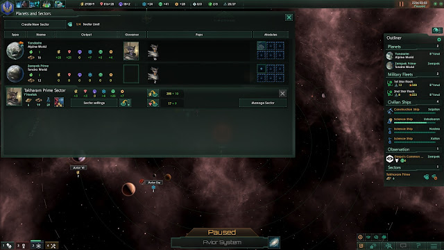 Planets and Sectors | Stellaris Screenshot