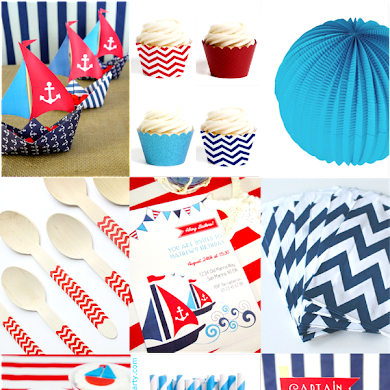 Red, White & Blue Nautical Inspired Party Ideas