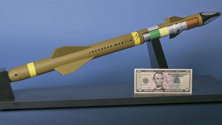 Lockheed 2 foot long missiles for protecting a battalion
