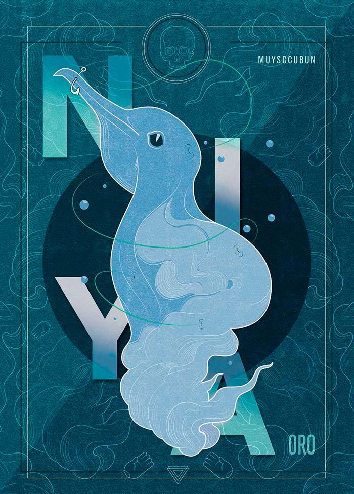 Ilustración, Nyia-Oro de Edwin Perilla