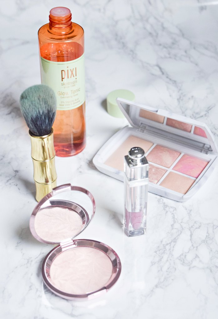 december favourites, pixi glow tonic review, hourglass palette review, becca rose quartz