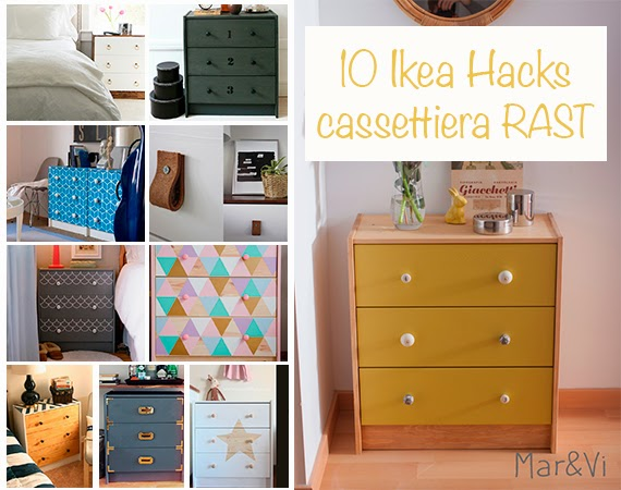 spesso Mar&Vi Blog: Ikea Hack: 10 idee per personalizzare la cassettiera Rast TP37
