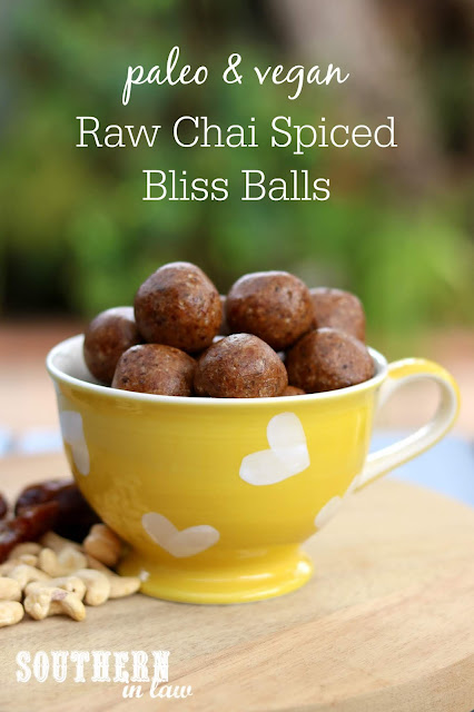 Paleo Chai Raw Balls Recipe - raw bites, vegan, paleo, grain free, gluten free, sugar free, healthy snack, clean eating recipe, energy bites, bliss balls recipes
