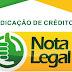 Nota Legal: indicação de créditos termina em 31 de janeiro