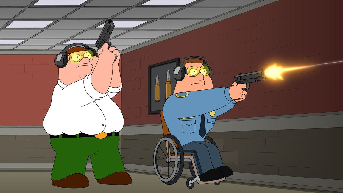 Family Guy - Season 15 Episode 15: Cop and a Half-wit