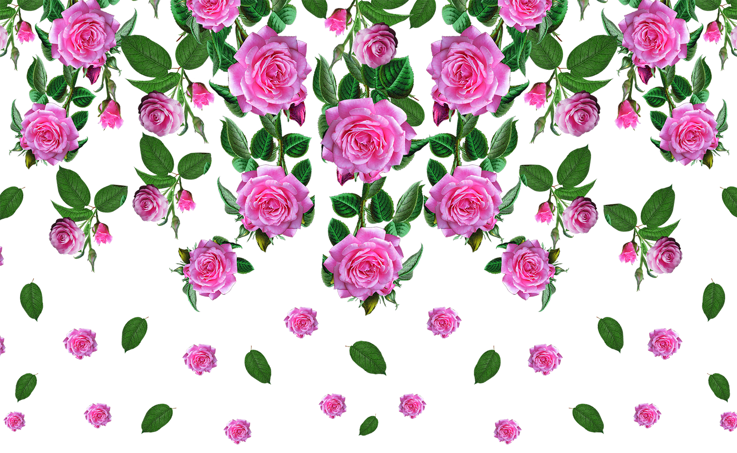 Rose Flower pattern PNG - Textile Digital Print Design