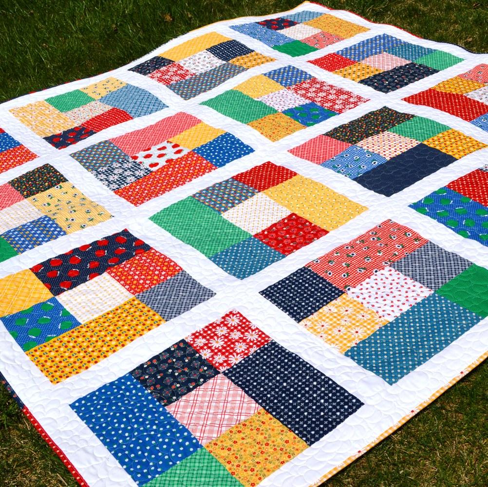 Happy Quilting Fat Quarter Cubes A Short Cut Quilt