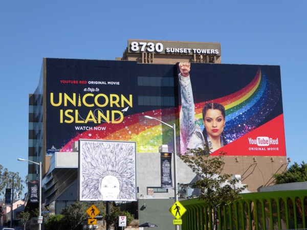 Unicorn Island YouTube Red movie billboard