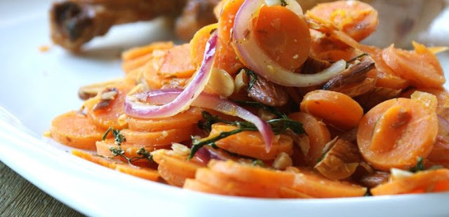CARROT, RED ONION AND CILANTRO SALAD