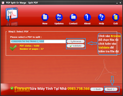 Cắt file PDF với PDF Siplit Or Merge - H02